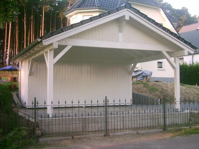 satteldach carport garage aus holz als individueller bausatz. Black Bedroom Furniture Sets. Home Design Ideas