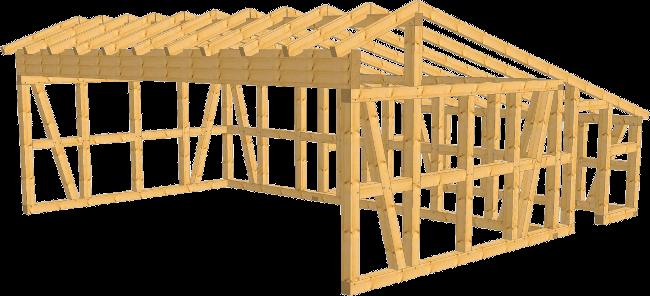 fachwerk remise ulm remise kvh 8 16 x 7 61 als bausatz. Black Bedroom Furniture Sets. Home Design Ideas