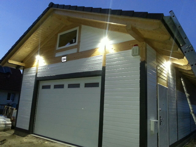 Details Zu Holzgarage Mahlow Fur Hebebune Satteldach Kvh 6 20 X 10 00 M Als Bausatz