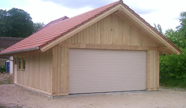 Details Zu Oldtimer Holzgarage Potsdam Satteldach Kvh 6 00 X 8 00 M Als Bausatz