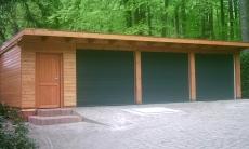 Flachdach Holzgarage - 01