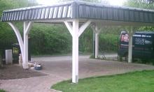 Flachdach Carport - 14