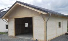 Satteldach Holzgarage - 04