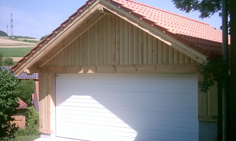 Satteldach Holzgarage   03