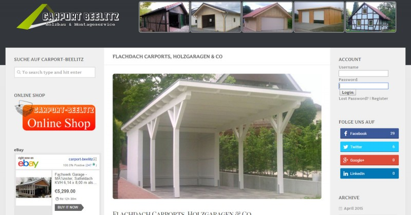 Carport-Beelitz Flachdach Facebook