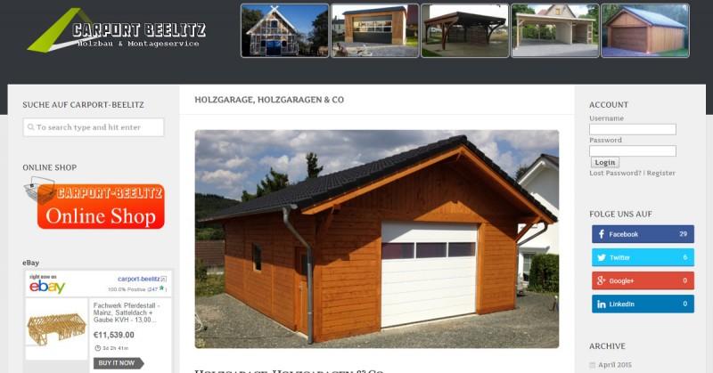 Carport-Beelitz Holzgarage Facebook