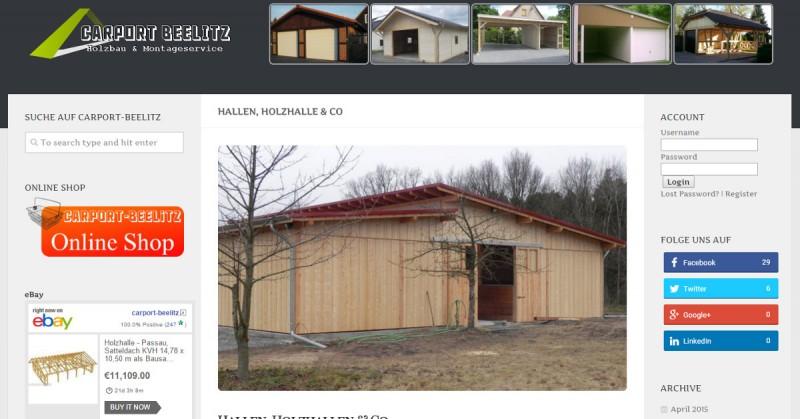Carport-Beelitz Holzhalle Facebook