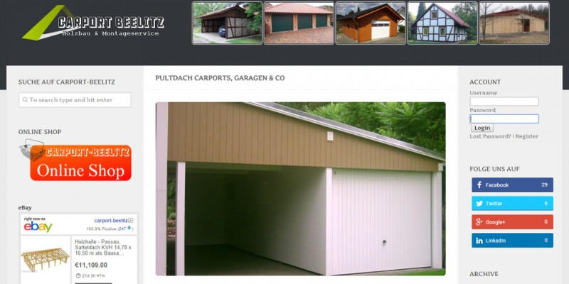 Carport-Beelitz Pultdach Twitter