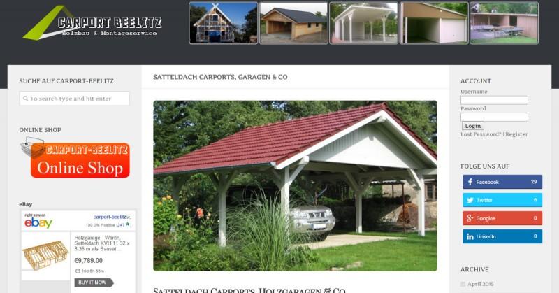 Carport-Beelitz Satteldach Facebook