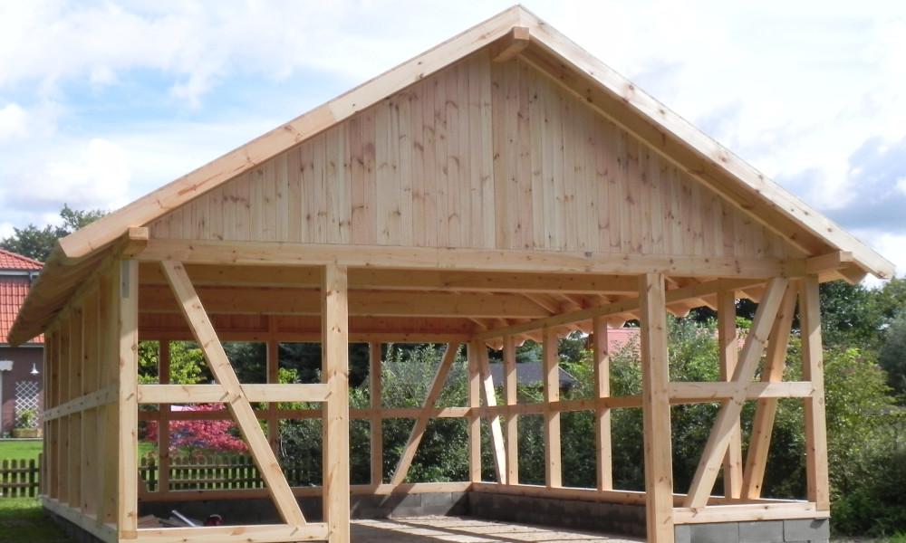 Top Fachwerk Carports & Holzgaragen als individueller Bausatz FI52