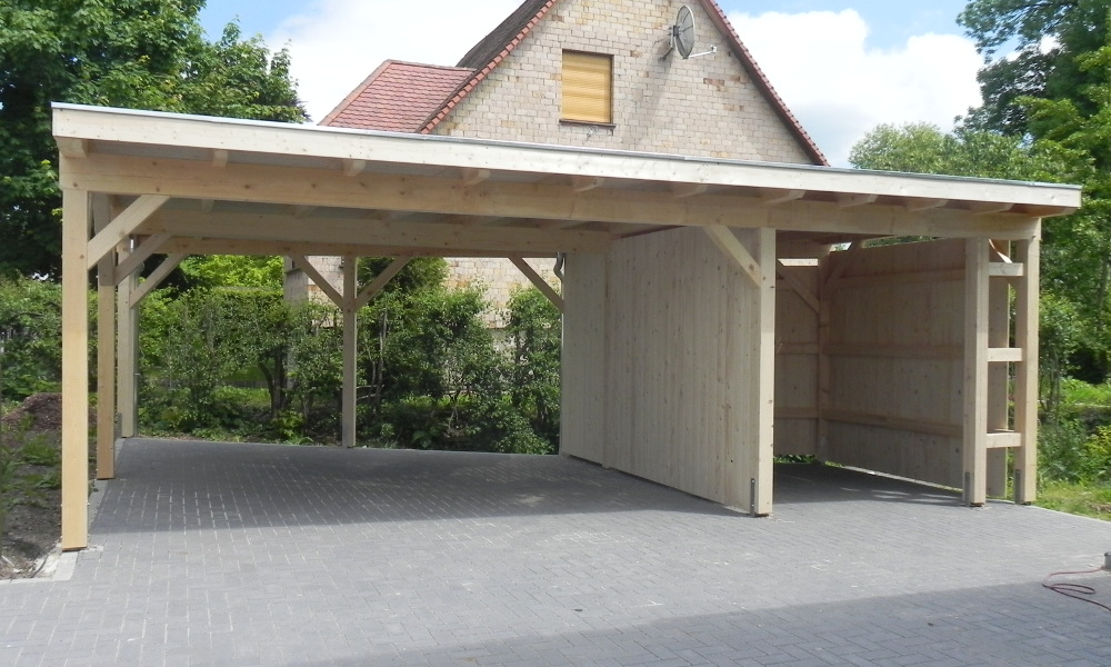 garage mit carport garagen carport kombinationen von ott die garagen carport profis. Black Bedroom Furniture Sets. Home Design Ideas