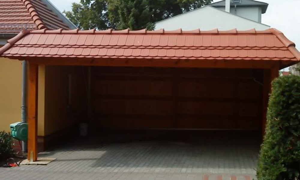 Garage mit carport flachdach  Flachdach Carports & Holzgaragen als individueller Bausatz