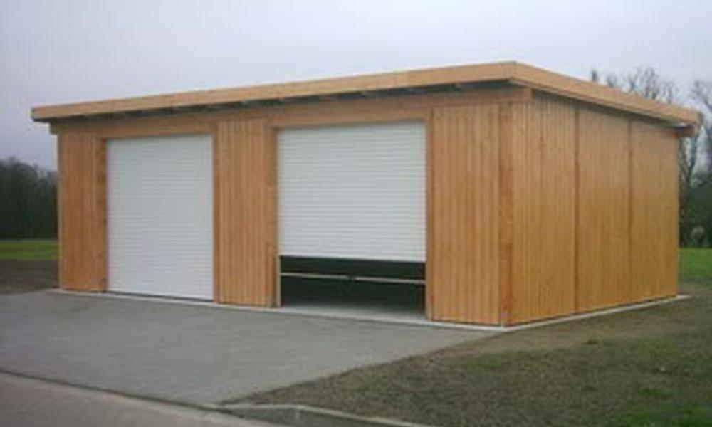 Moderne Holzgarage