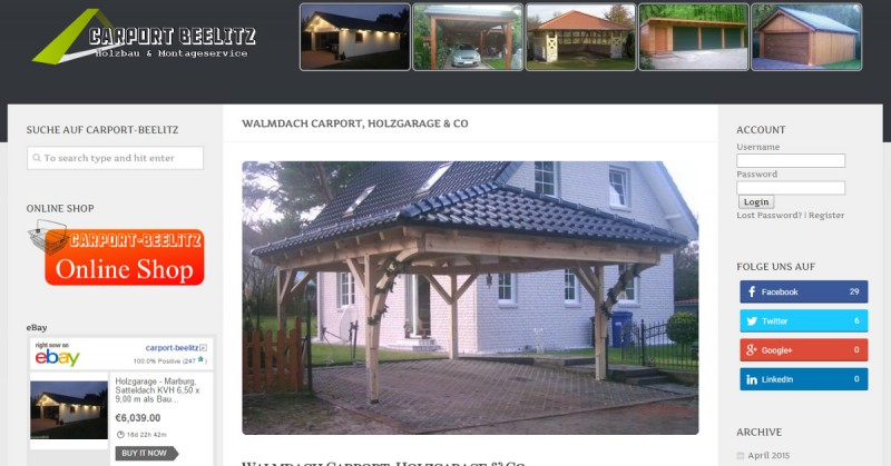 Carport-Beelitz Walmdach Google